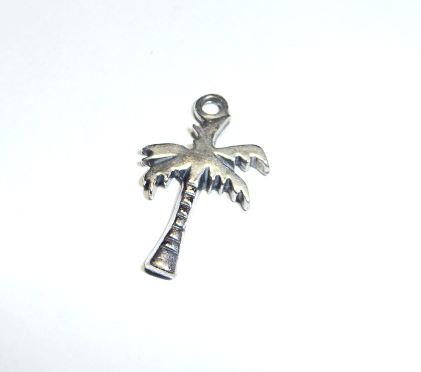 sterling silver palm tree charm on etsy