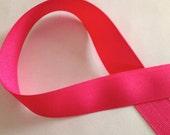 """6 Yards 7/8"""" Hot Pink Grosgrain Ribbon"""