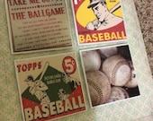 Coaster Set - Vintage Baseball