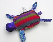 Custom Turtle for Aurora365 - Turtle Baby Turtle Rattle Toy Fabric Maya Purple Green Pink