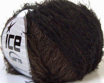 TECHNO black brown ice yarns 50gr polyamide 100m 4mm US size 6  ships from usa connecticut 32270