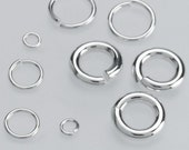 Ships FREE! TWO Sterling Silver jump rings, made in the USA, click for specs, 2 pcs