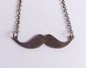 Mustache Necklace. Unisex. Bronze. Brass. Vintage Inspired. Geekery. Mustache Jewelry. Bridesmaid Gift. Bridal Jewelry.