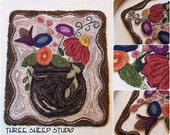 Punch Needle Pattern - Meadow Flowers - #PN510 - Needlepunch Embroidery