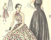 Vogue 7245 Vintage  1950 Dress Pattern sz 12