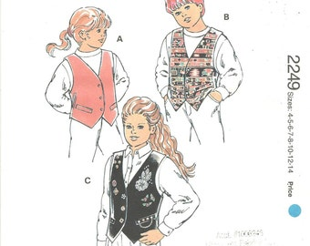 vests girls boys sewing pattern