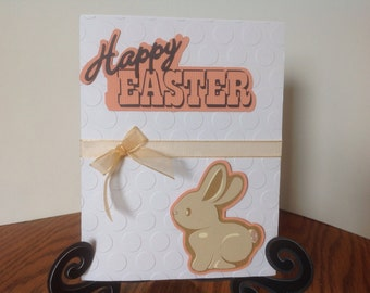 Happy Easter Bunny, Handmade Card and Envelope