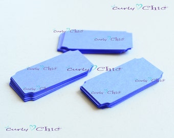 "75 Ticket Tag 1""x 2"" -Paper Rectangle Labels -Cardstock Small Tags -Paper die cuts -Rectangle Paper Labels -Tickets tags"