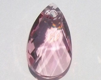 Swarovski Elements Crystal Pendant  crystal Pear 6106 Pendant -- LIGHT ROSE pink 16mm and  22mm