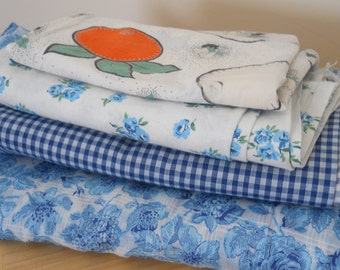 Lot of Vintage Cotton Fabric 1930s-60s