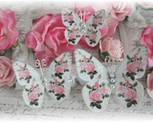 Rose Garden Butterfly Embellishments for Scrapbooking or Cardmaking, Tag Art,  Mixed Media, Mini Albums