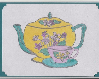 All Occasions-Post Cards-Pansy Teapot