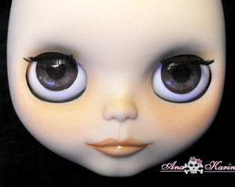 Blythe eye chips OOAK REALISTIC custom set C6, by Ana Karina. UV laminated
