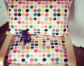 Pillow case with apple print