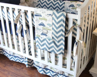 Vintage Cars Boy Crib Sets, Boy Crib Bedding, Cars Bedding for Boys, Baby Boy Crib Bedding, Ritzy Baby Boy Bedding, Bedding for Baby Boys