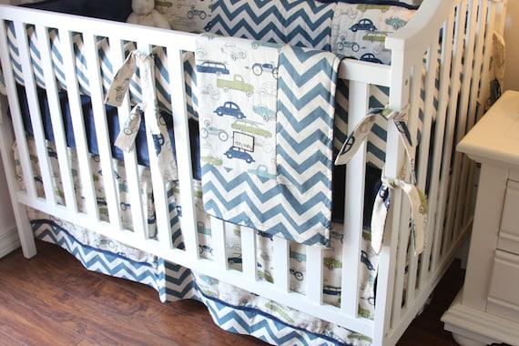 Vintage Cars Boy Crib Sets Boy Crib Bedding Cars Bedding For