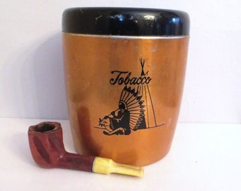 Cannister or Humidor- Vintage Copper
