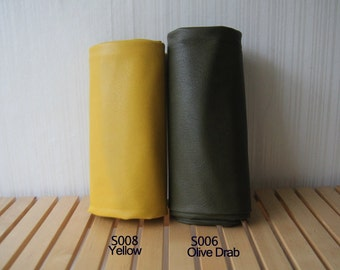 Middle thickness FAUX Leather, Lamb style, Yellow, S008