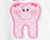 Babys MY FIRST TOOTH Personalized Monogrammed Shirt or Bodysuit, Black or White, Long or Short Sleeves