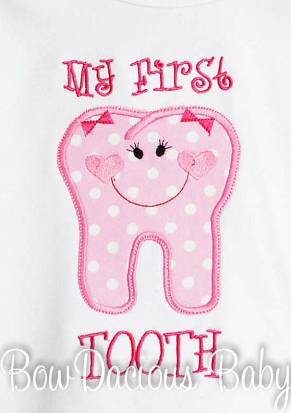 babys my first tooth personalized monogrammed by bowdaciousbaby