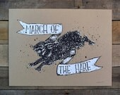 SALE March of the Hare Screen Print