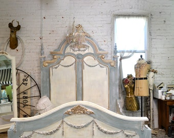 Painted Cottage Shabby Marie Antoinette Romantic French Bed