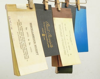 5 Salvaged Vintage Rent Attorney Receipt Books for your altered art assemblage projects