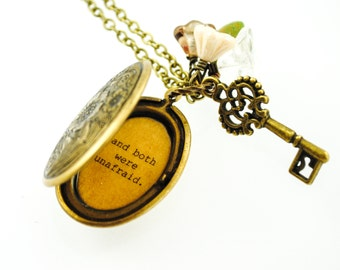 Anne of Green Gables - Women's Locket - Their happiness was in each others keeping and both were unafraid