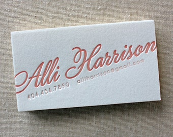 letterpress calling cards (set of 150)