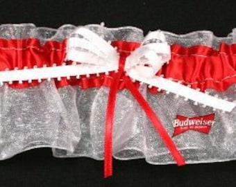 Personalized Budweiser Bridal Keepsake Wedding Garter