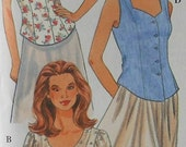 Summer Top Sewing Pattern UNCUT Simplicity 9580 Sizes 18-22