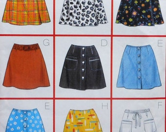 Short Skirt Sewing Pattern UNCUT Butterick 5014 Sizes 6-10