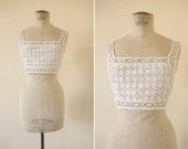 Turn of the century bra . Antique lingerie . Medium / M . cubesandsquirrels