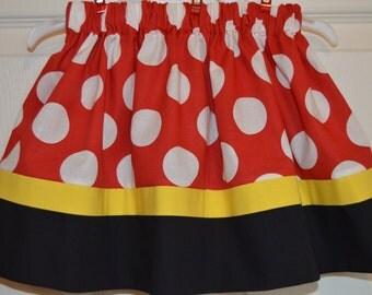 Classic Big Red Polka Dot Skirt