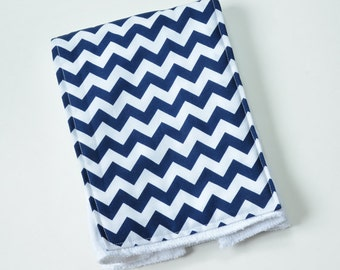 Baby Burp Cloth Burp Rag Boy Burp Cloth Baby Items Navy Chevron Burpcloth Cloth Diaper New Mom Baby Shower Gift
