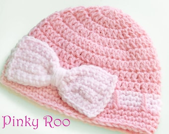 Lil'l bow Baby hat / crochet baby hat / photo prop for newborns pictures