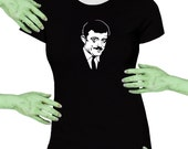 Gomez Addams Gothic Black Missy Fit t-shirt Plus Sizes Available Voodoo Sugar