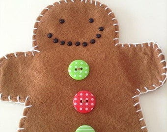 "Large ""iced"" Mr Gingerbreadman hanging decoration"