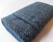iphone 6  plus Samsung S5  Harris Tweed Wool - Blue
