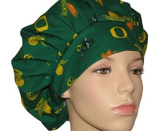 Scrub Hats - University Of Oregon Ducks Fabric
