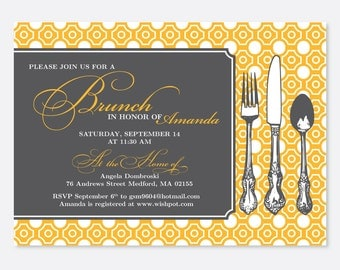 Brunch Bridal Shower Invitation, Brunch Party Invitation, Bridal Party, Baby Shower, Dinner Party Invitation