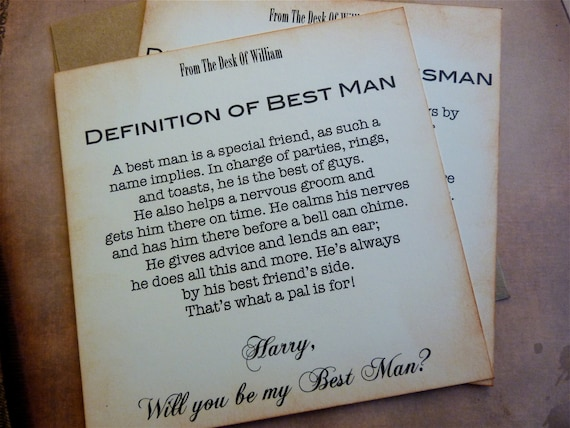 Will You Be My Best Man Invitation Vintage Inspired Classic