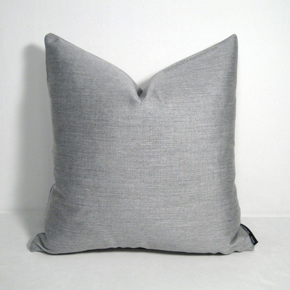 Modern Silver Pillows : Silver Grey Outdoor Pillow Cover Modern Outdoor Decor Dove