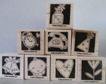 Stampin' Up Occasionally wood mount stamp set