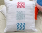 White Quilted Throw Pillow