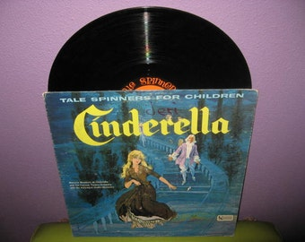 FINAL SALE Rare Vinyl Record Cinderella - Tale Spinners for Children LP 1960's Children's Classics