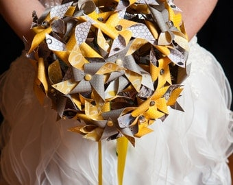 Pinwheel Bouquet by Rule42 - 3 sizes, custom designed to match your wedding