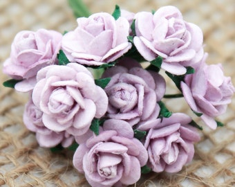 Enchanted  Passion  Series  - Miniature Roses-Shabby Purple