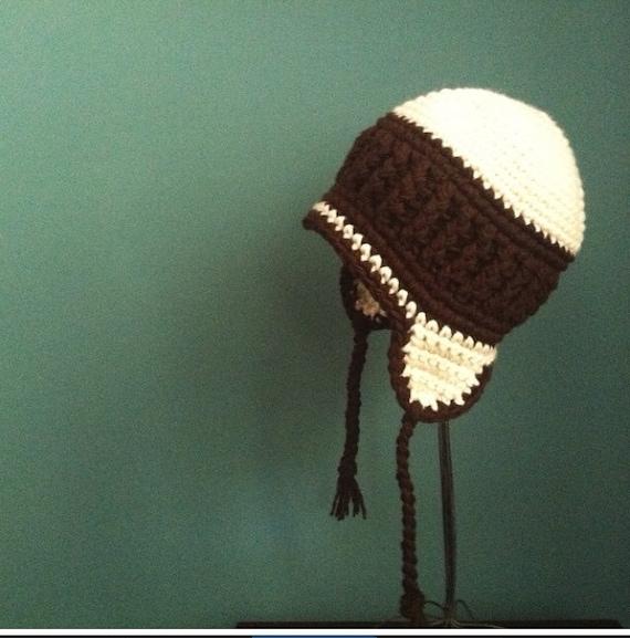 Womens ear flap hat, beanie, teen, hat, winter, brown, cream, snowboarding hat, ski hat, spring