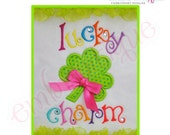 Lucky Charm Irish St. Patrick's Day Applique Design- Instant Email Delivery Download Machine embroidery design